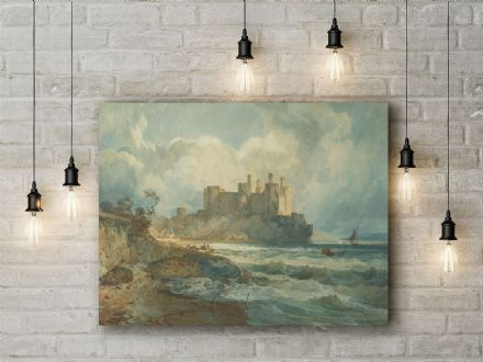 J.M.W. Turner: Conway Castle, North Wales. Fine Art Canvas.
